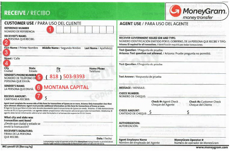 HOW TO FILL OUT MONEYGRAM GREEN FORM